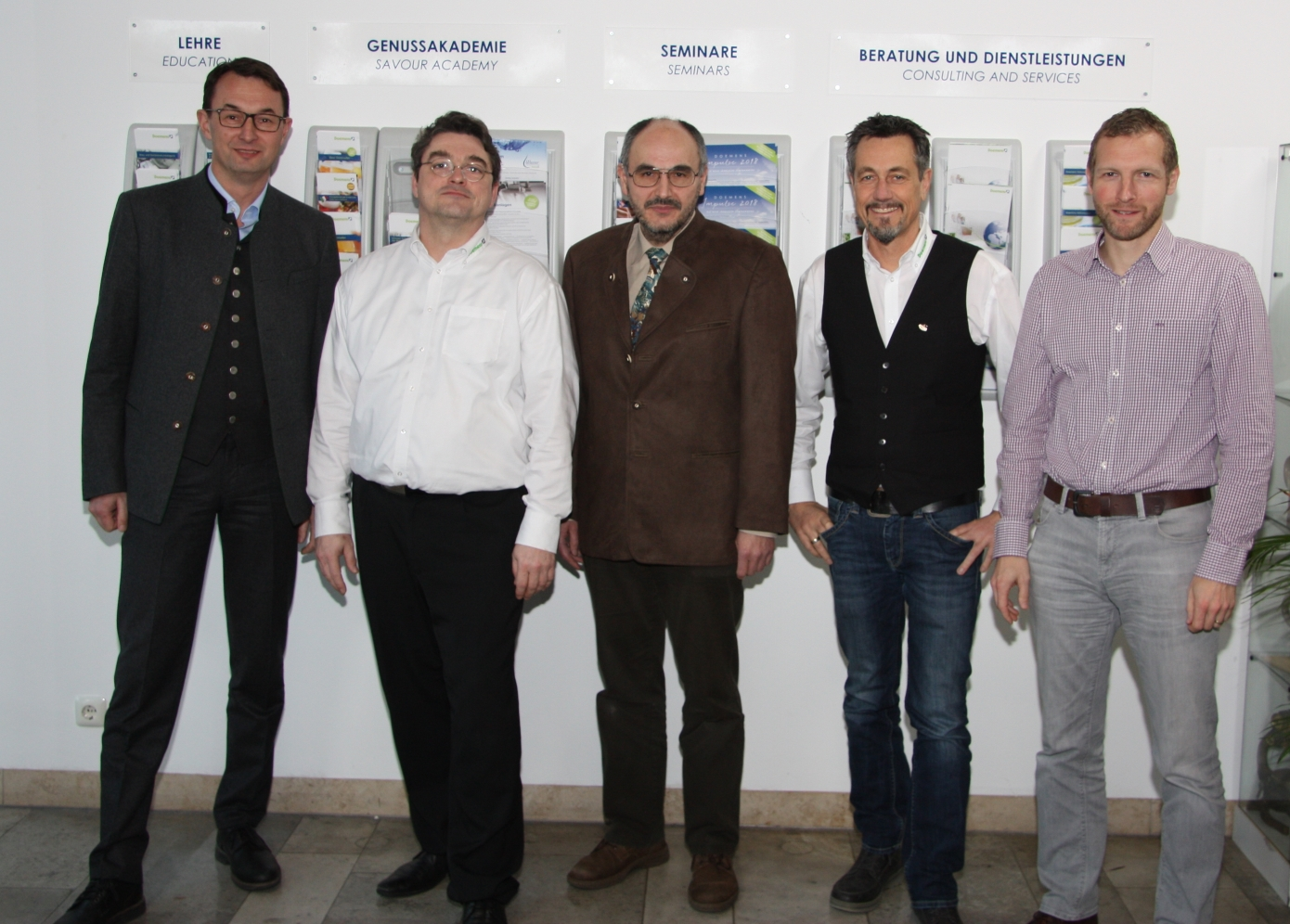 The Doemens CEO and the Managing Directors of the different divisions